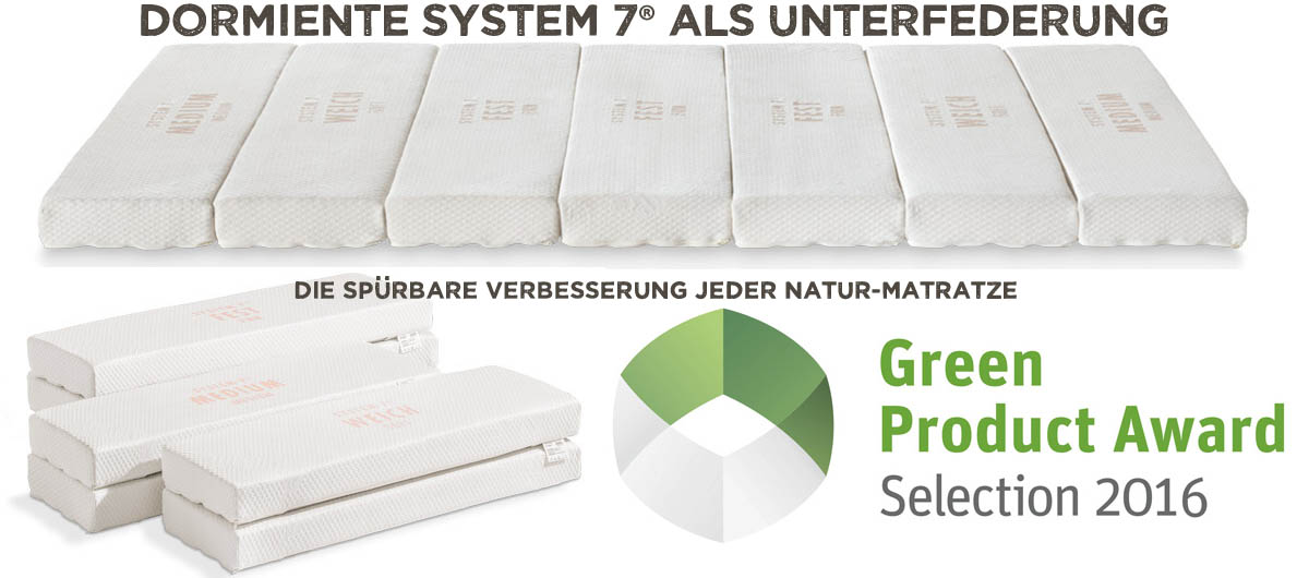 dormiente-System-7-Unterfederung-green-Product-Award