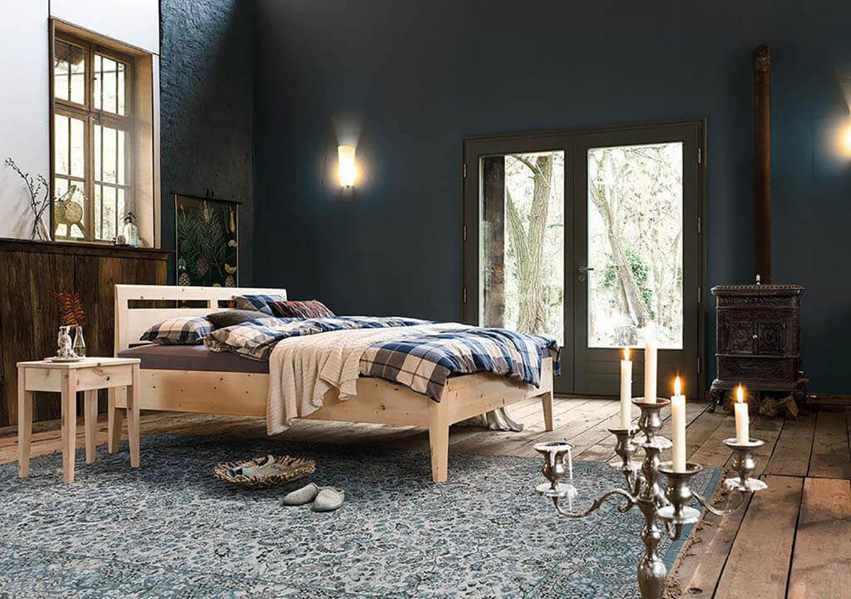 dormiente-Kalmera-Maxi-Massivholzbett-Zirbenholz-Bett