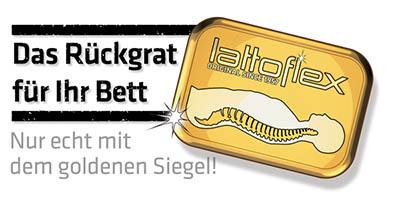 lattoflex Logo goldenes Siegel