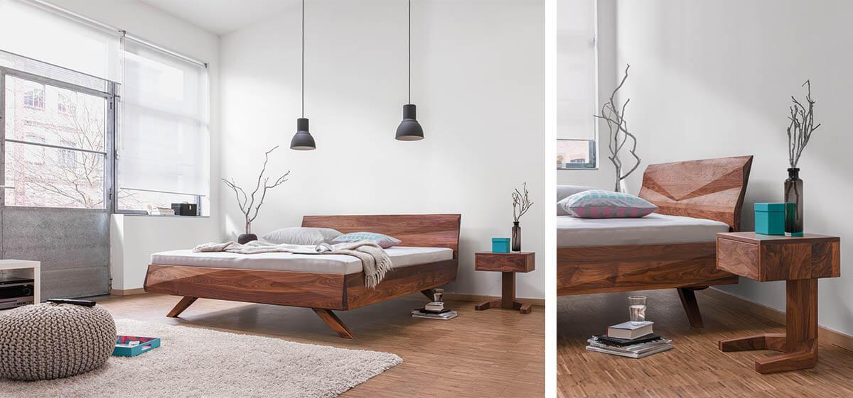 dormiente-Gabo-Nachtkonsole-und-Bett-Nussbaum-Ambiente