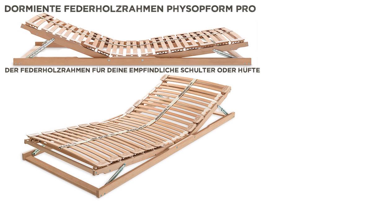 dormiente-Physioform-Pro-Federholzrahmen-Kopf-Fuss-Verstellung