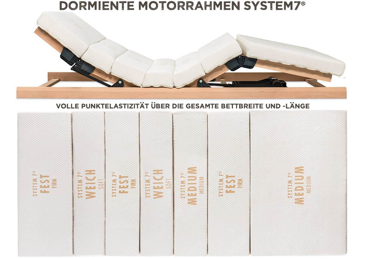 dormiente-System-7-Motorrahmen-volle-Punktelastizitaet